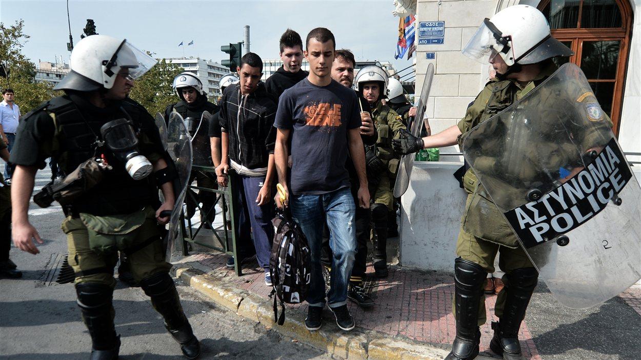 Policiers à Athènes