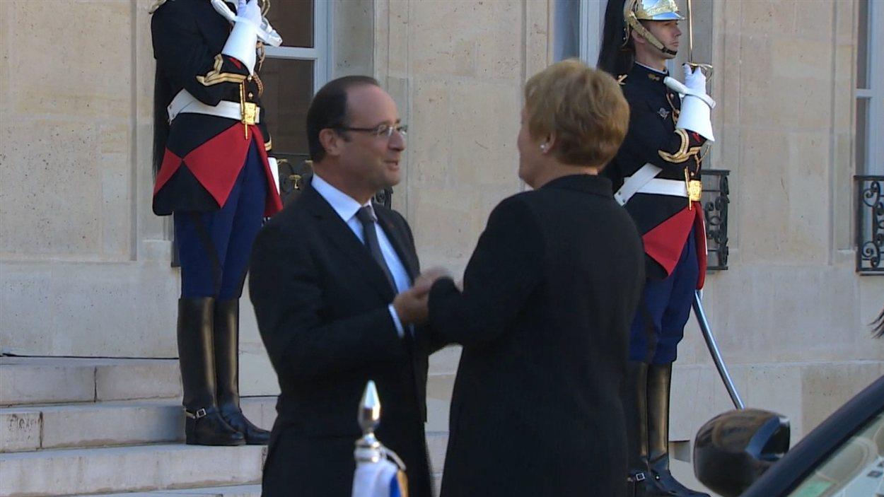François Hollande et Pauline Marois