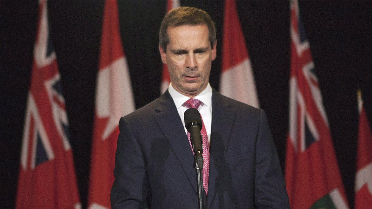 Le premier ministre de l'Ontario Dalton McGuinty annonce sa démission.