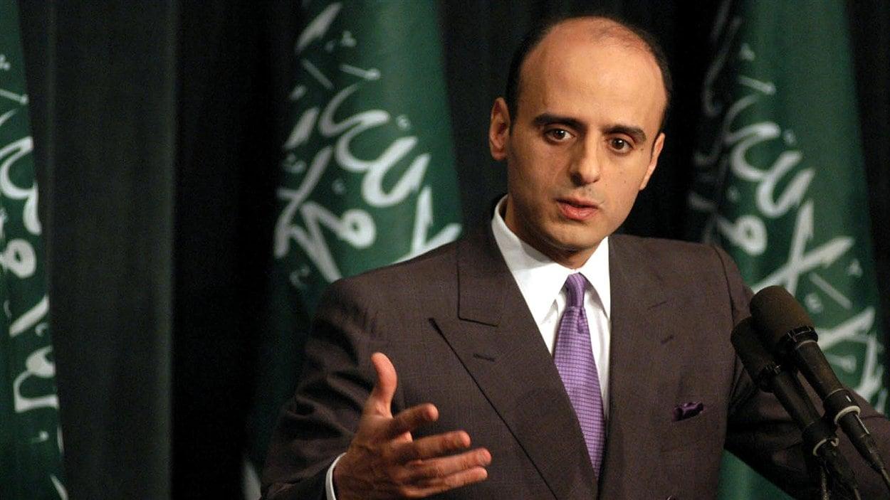 L'ambassadeur de l'Arabie saoudite aux États-Unis, Adel Al-Jubeir, lors d'une conférence de presse en 2003.