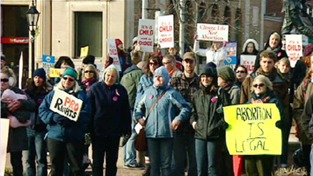 Manifestation sur la question de l'avortement