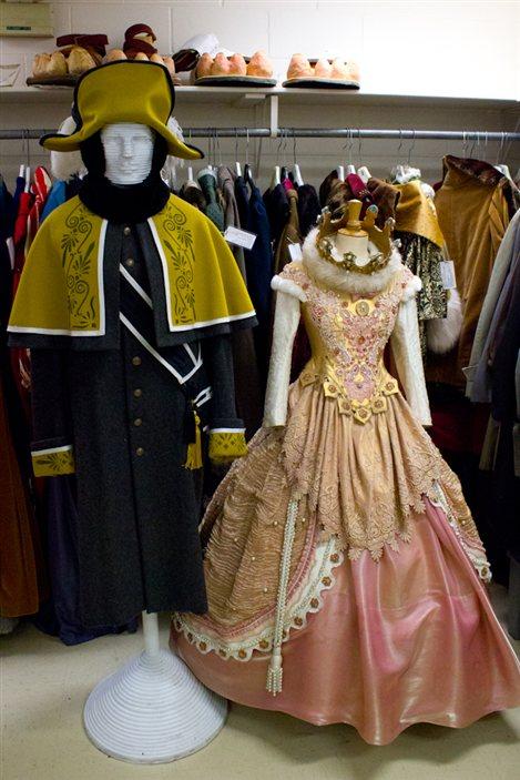 La robe de princesse a été portée par Catherine Brunet pour un conte de Noël.