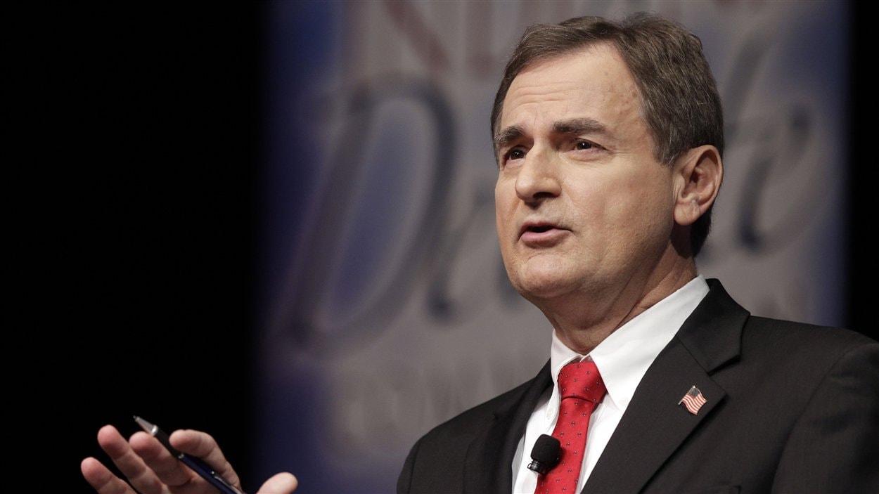 Le candidat républicain au Sénat dans l'Indiana, Richard Mourdock, lors d'un débat le 23 octobre 2012.