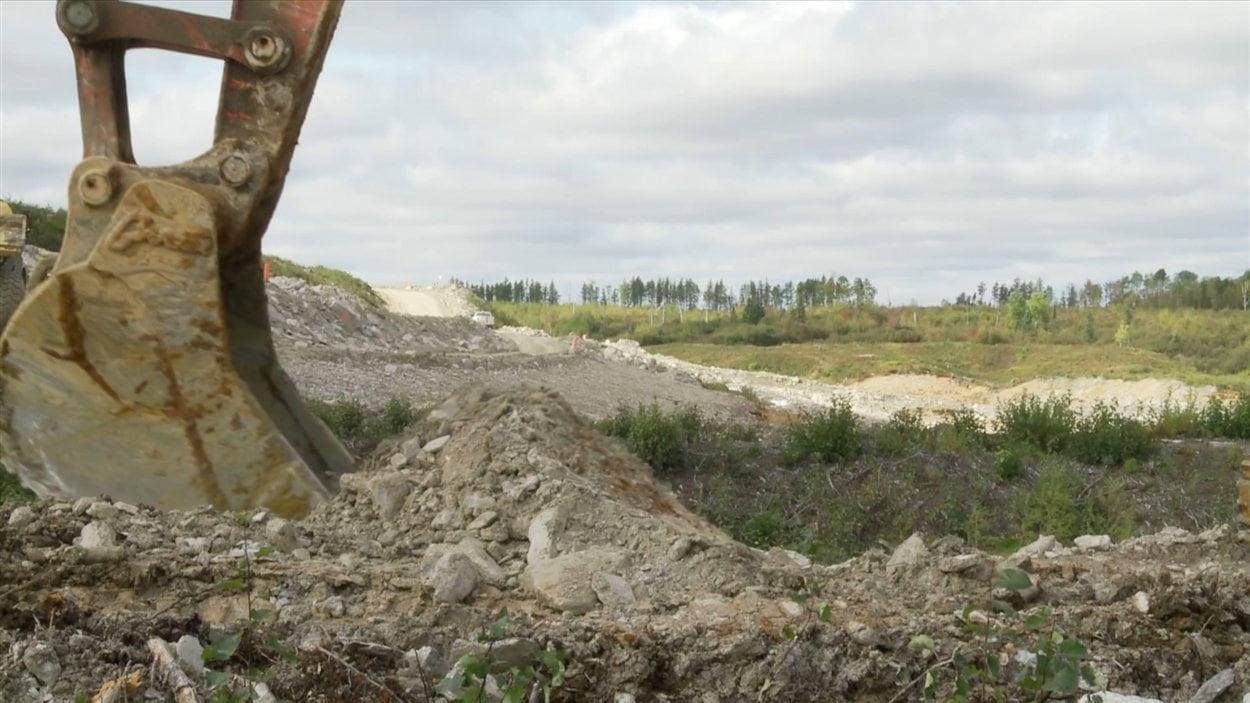 Vue d'une mine