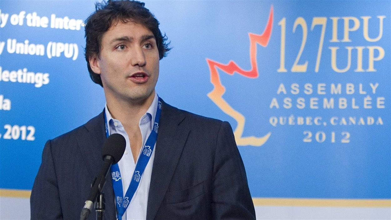 Justin Trudeau, lors de son passage à Québec