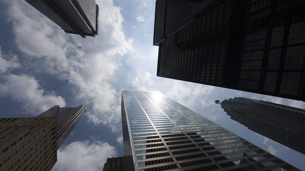 Le centre des affaires de Toronto