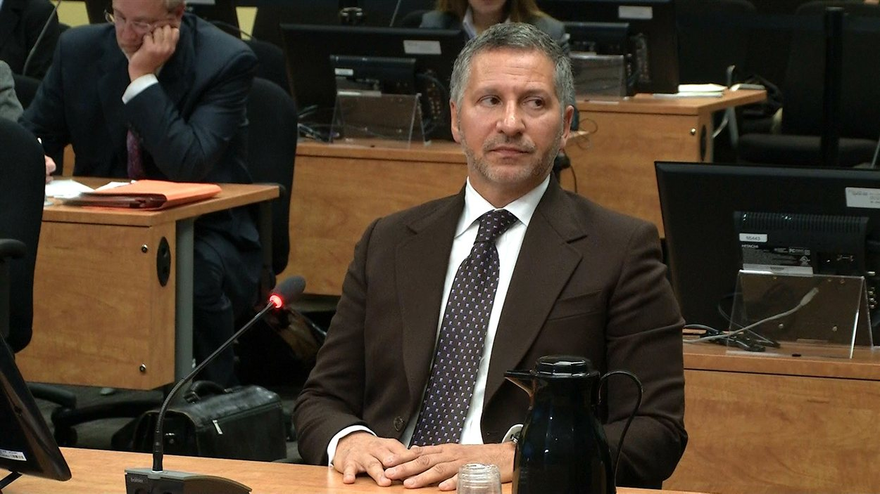 L'homme d'affaires Elio Pagliarulo à la commission