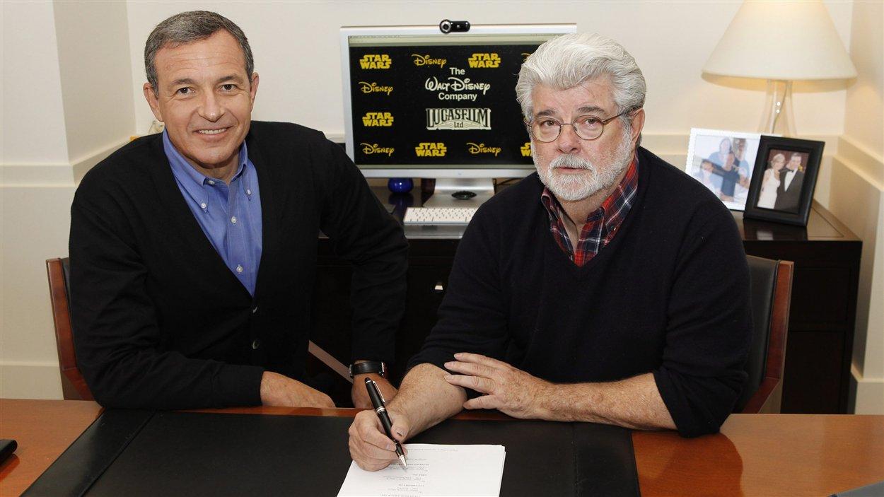 Robert A. Iger et George Lucas