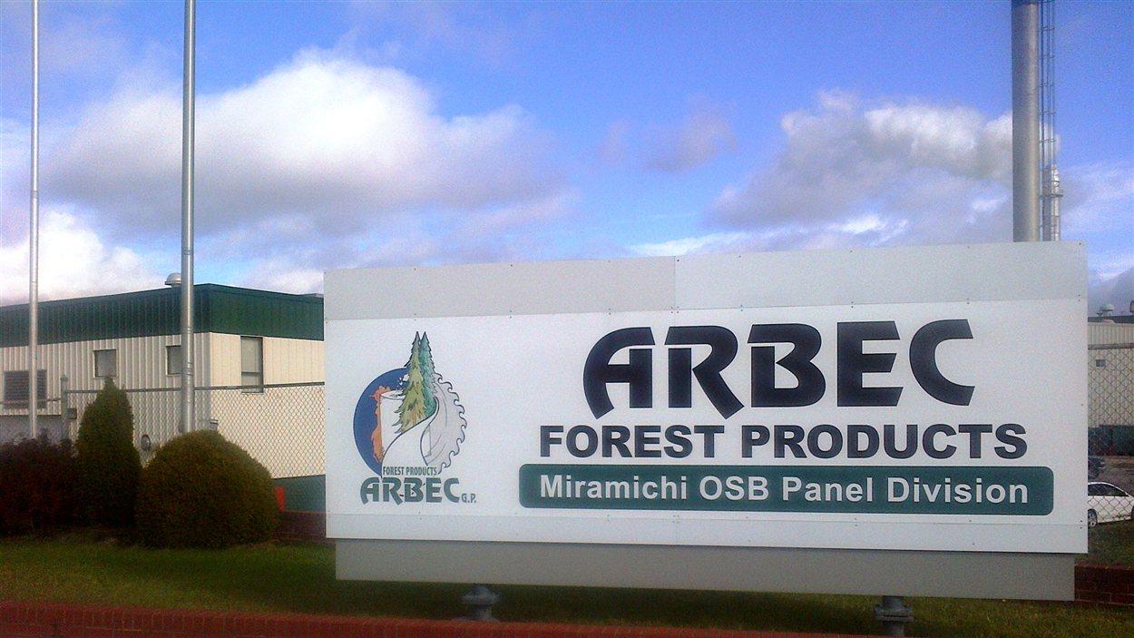 Produits forestiers Arbec à Miramichi