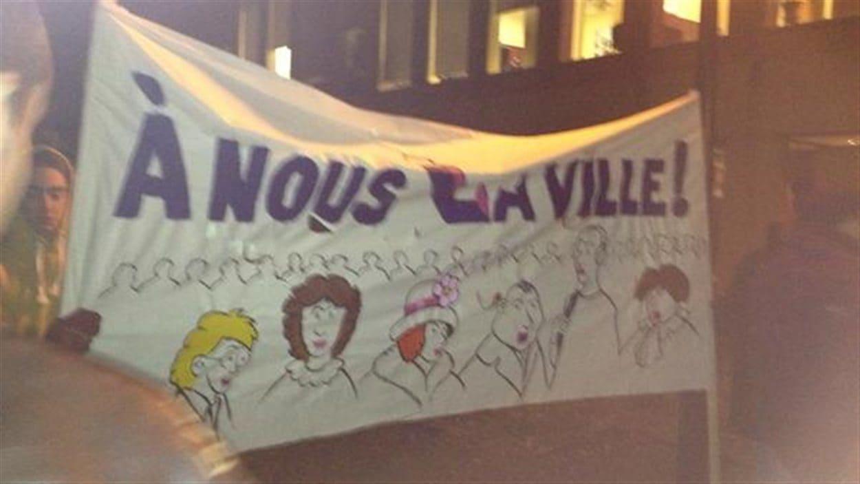 Manifestation à Laval