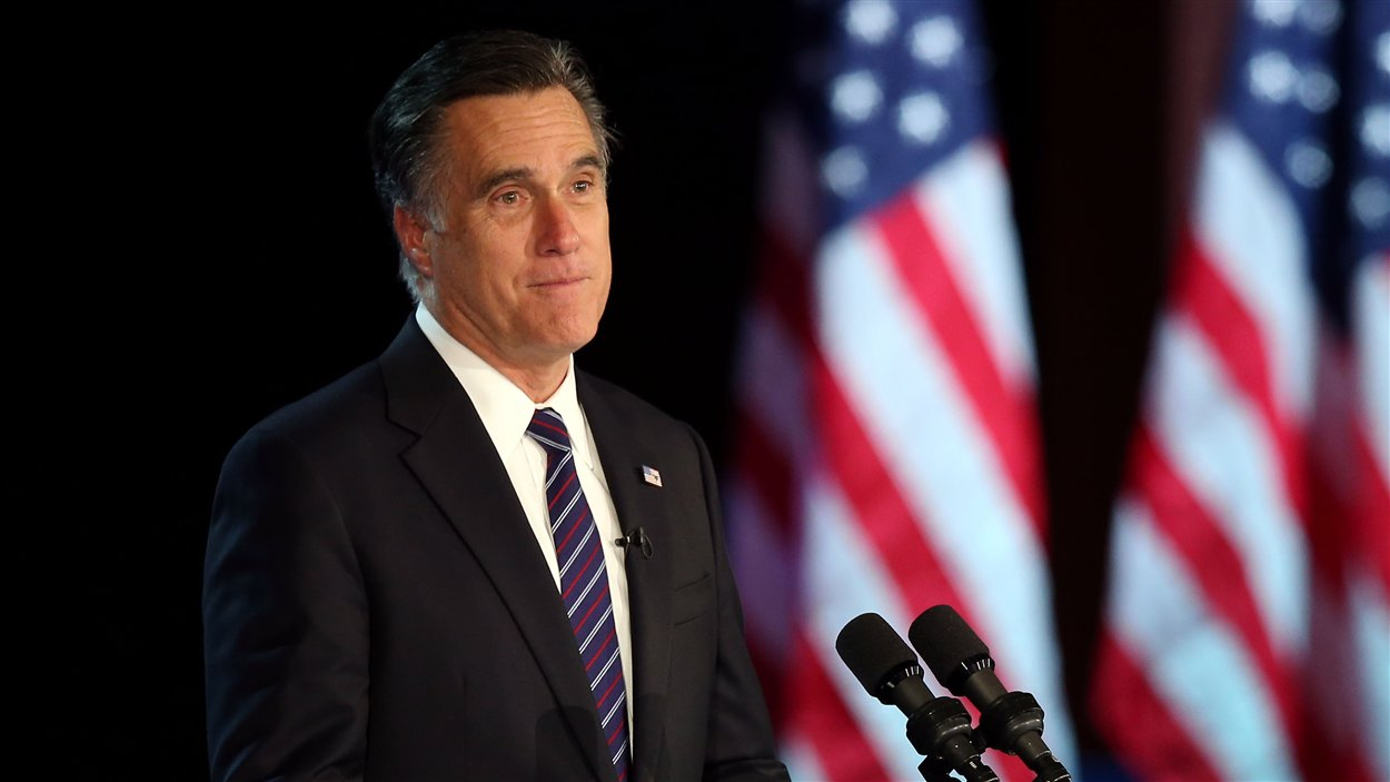 Le candidat républicain défait Mitt Romney concède sa victoire dans un discours prononcé à Boston.