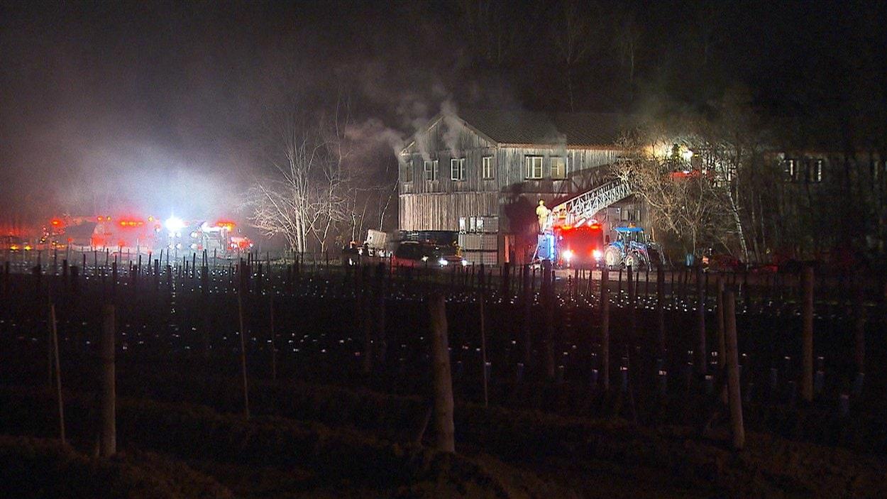 Un incendie a endommagé le bâtiment principal du vignoble Château Taillefer Lafon, à Laval.
