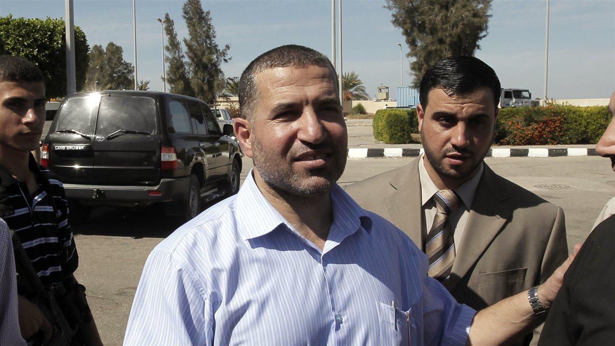 Le chef de la branche armée du Hamas, Ahmad Jaabari, a été vu le 18 octobre 2011 du côté égyptien de Rafah.