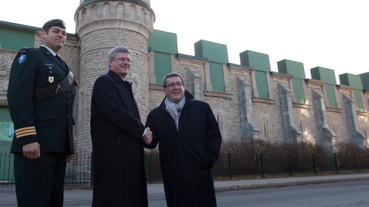 Stephen Harper et Régis Labeaume
