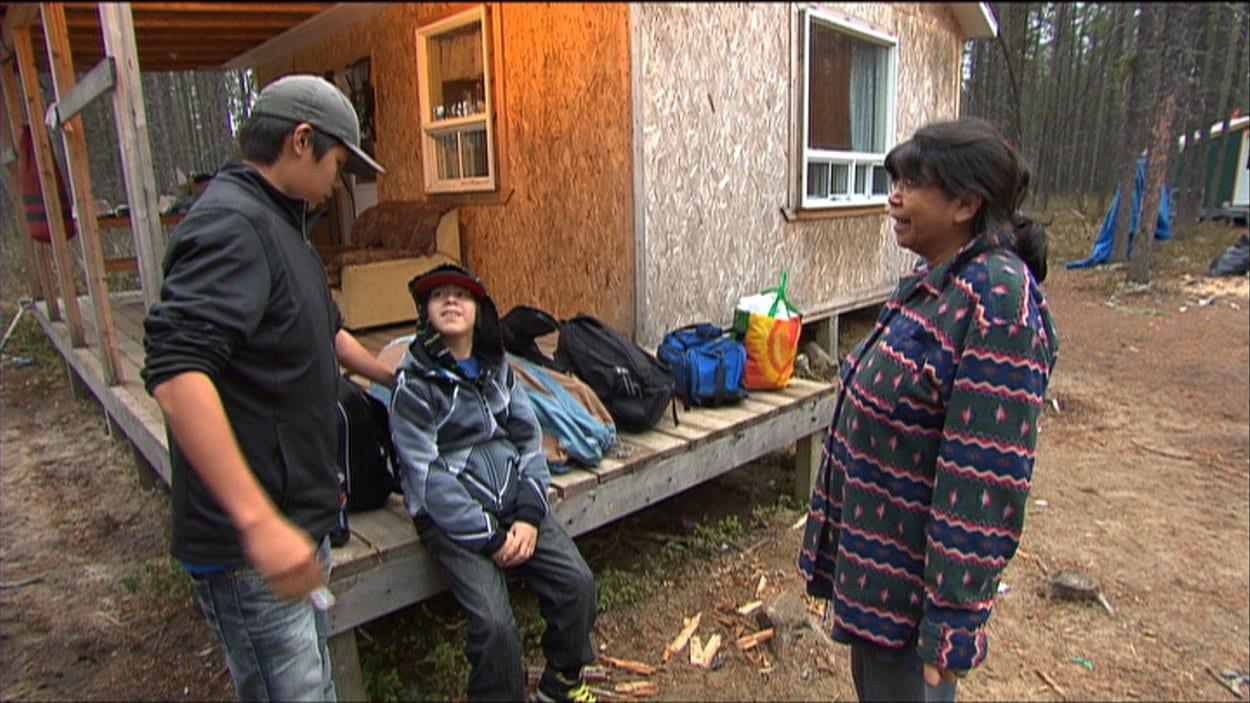 Image tirée du reportage de Maude Montembault sur les Autochtones d'Obedjiwan. En ondes au Téléjournal 22h, 19 nov 2012.