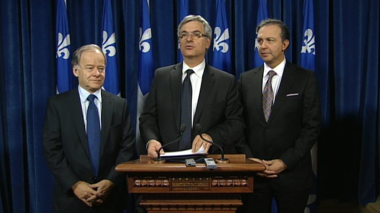 En soirée, les députés libéraux Raymond Bachand, Jean-Marc Fournier et Sam Hamad ont indiqué que leur formation ne renverserait pas le gouvernement péquiste.