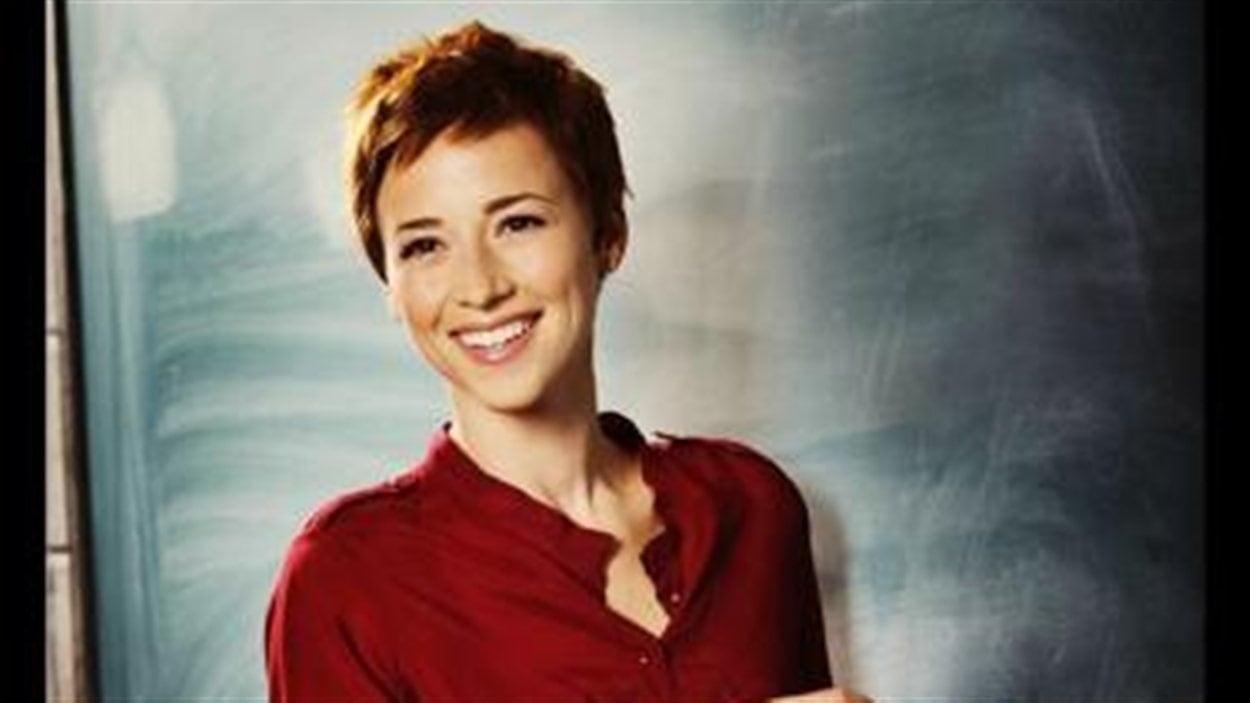 La photo que Karine Vanasse a mise en ligne pour annoncer son nouveau rôle dans la série 30 vies