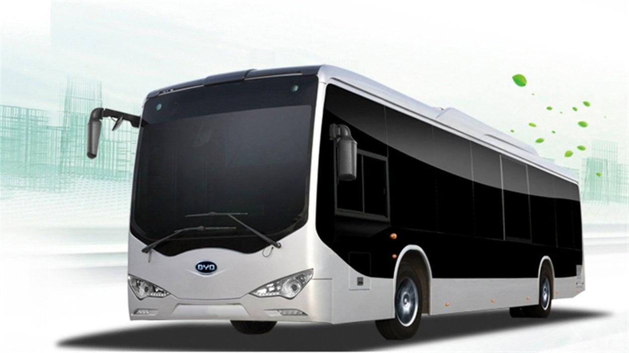 Un autobus fabriqué par la firme chinoise BYD sera mis à l'essai à Gatineau.