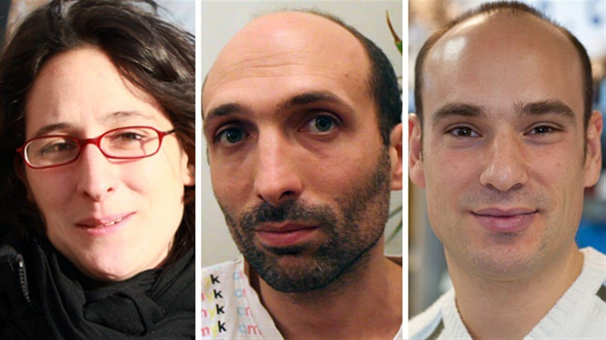 Leslie Humblot, Colas Wohlfahrt et Benoît Schmautz, trois Français émigrés au Québec