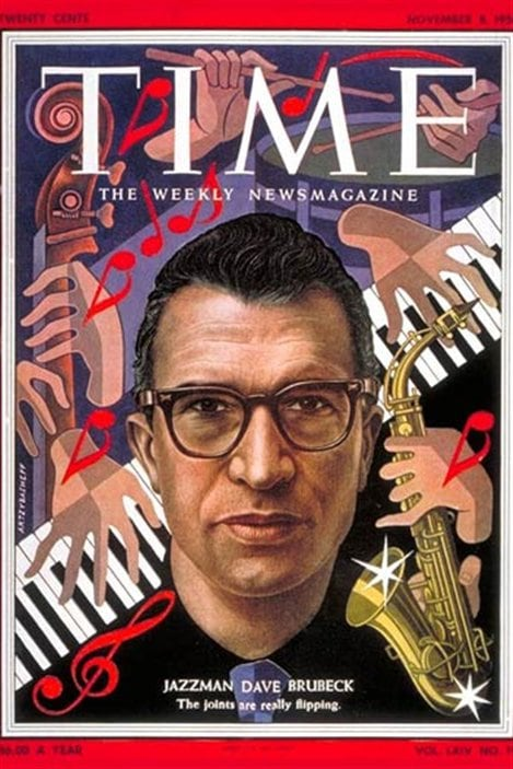 La couverture du Time Magazine du 8 novembre 1954, avec Dave Brubeck
