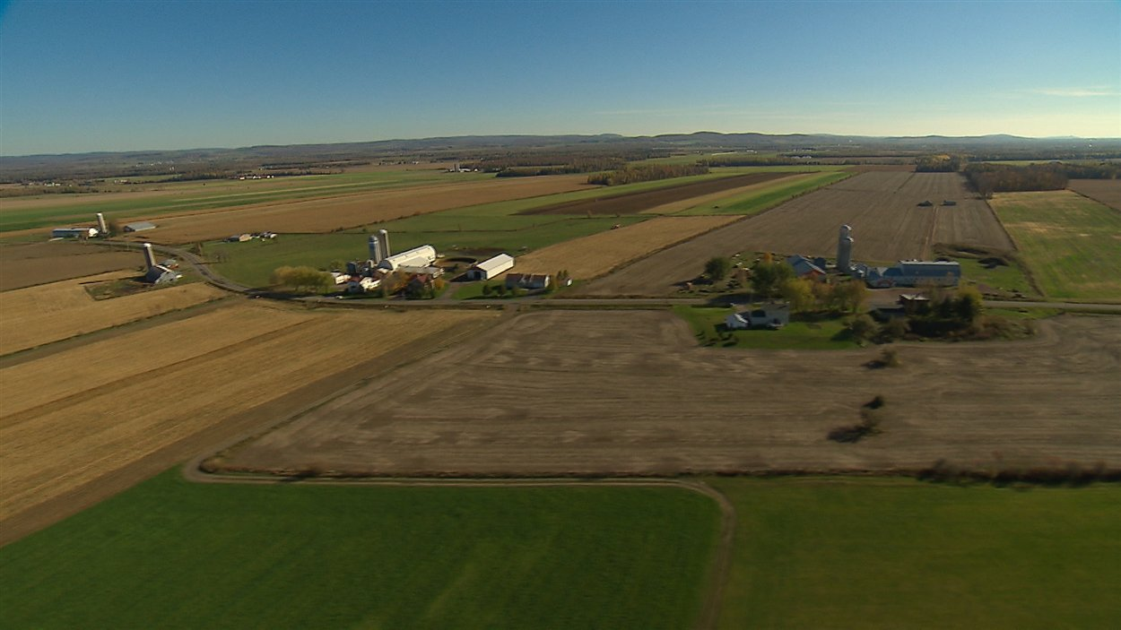Deux pour cent seulement du territoire québécois est réservé à l'agriculture.