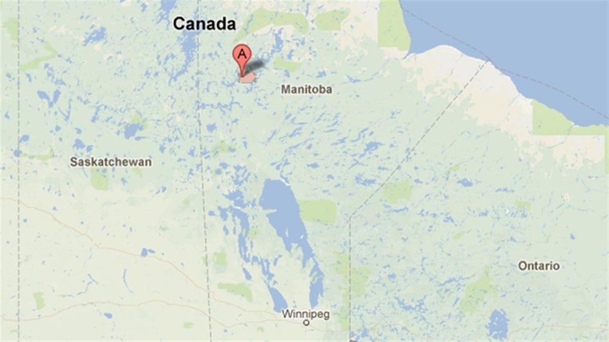 Leaf Rapids se trouve dans le nord du Manitoba