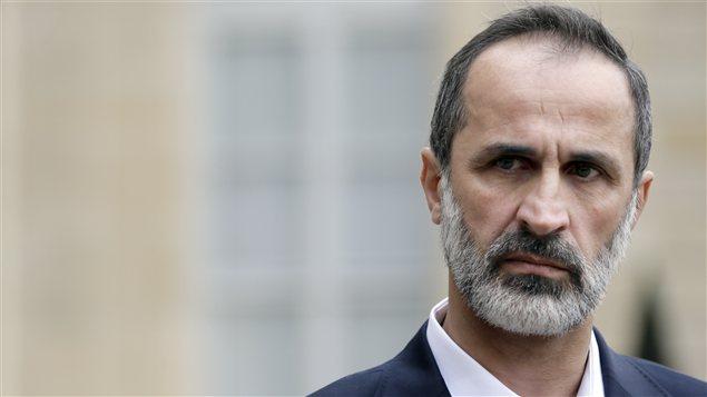 Le chef de la nouvelle coalition syrienne, Ahmed Moaz Al-Khatib, en novembre 2012.