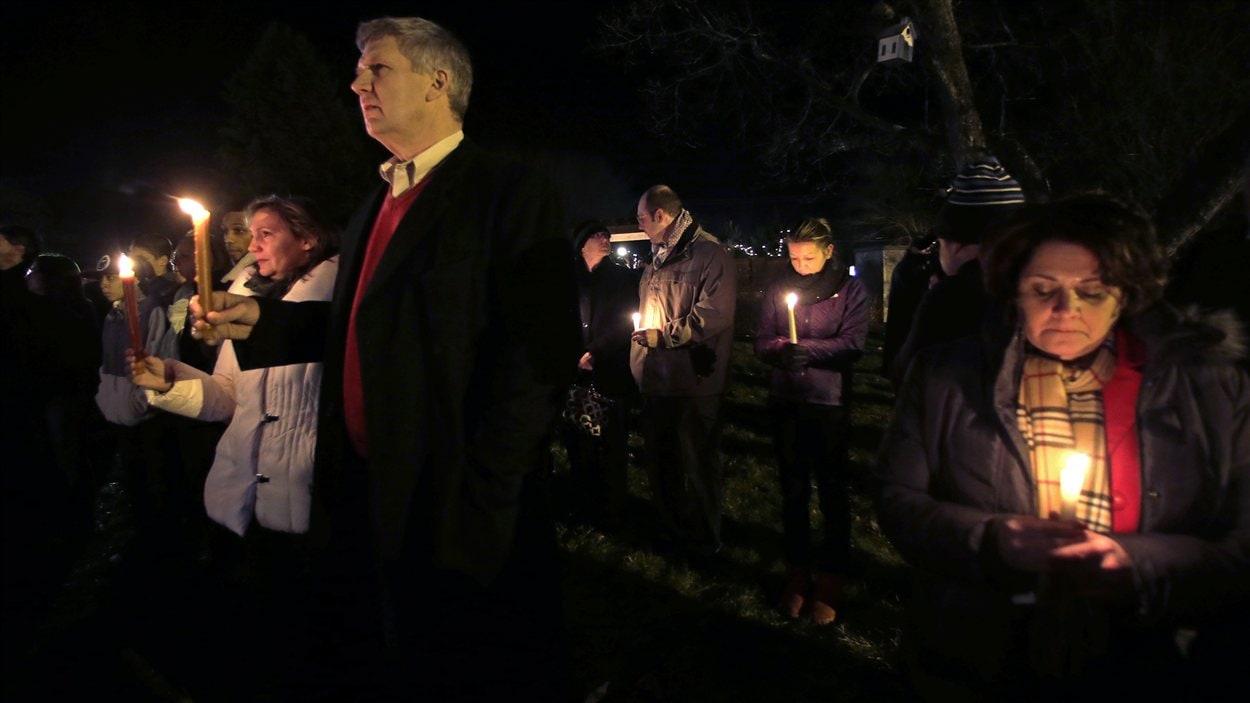 Recueillement à la mémoire des victimes de la tuerie