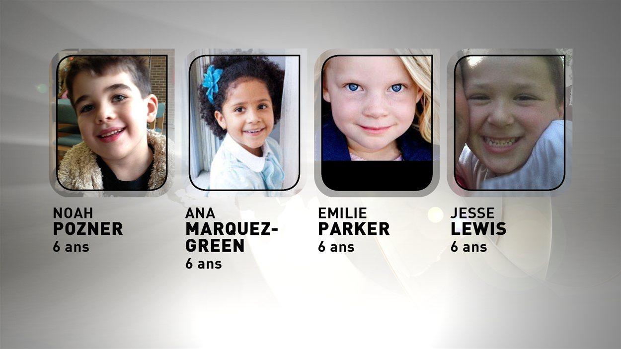 Des victimes de la tuerie