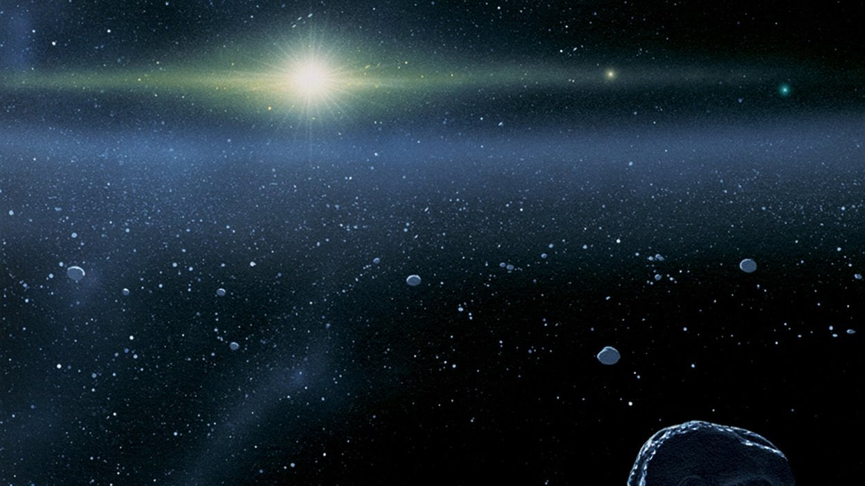 Représentation artistique de la ceinture de Kuiper