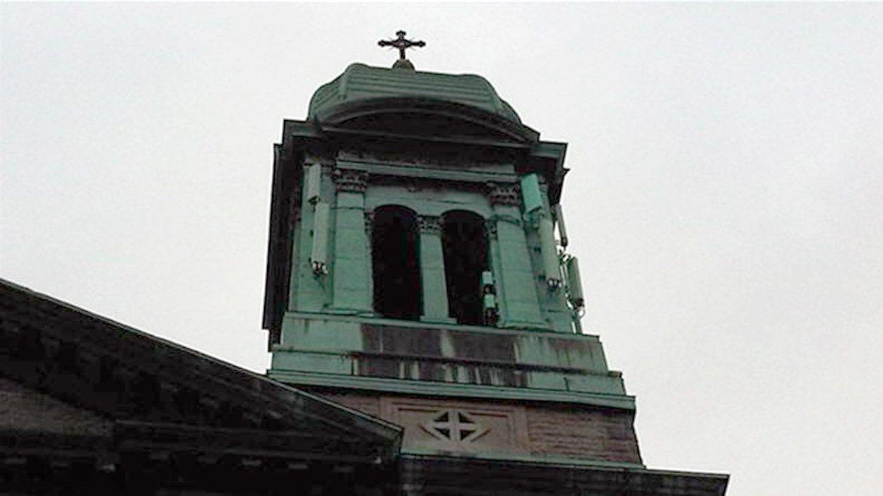 Cocher de l'église Saint-Marc, dans le quartier Rosemont, à Montréal.