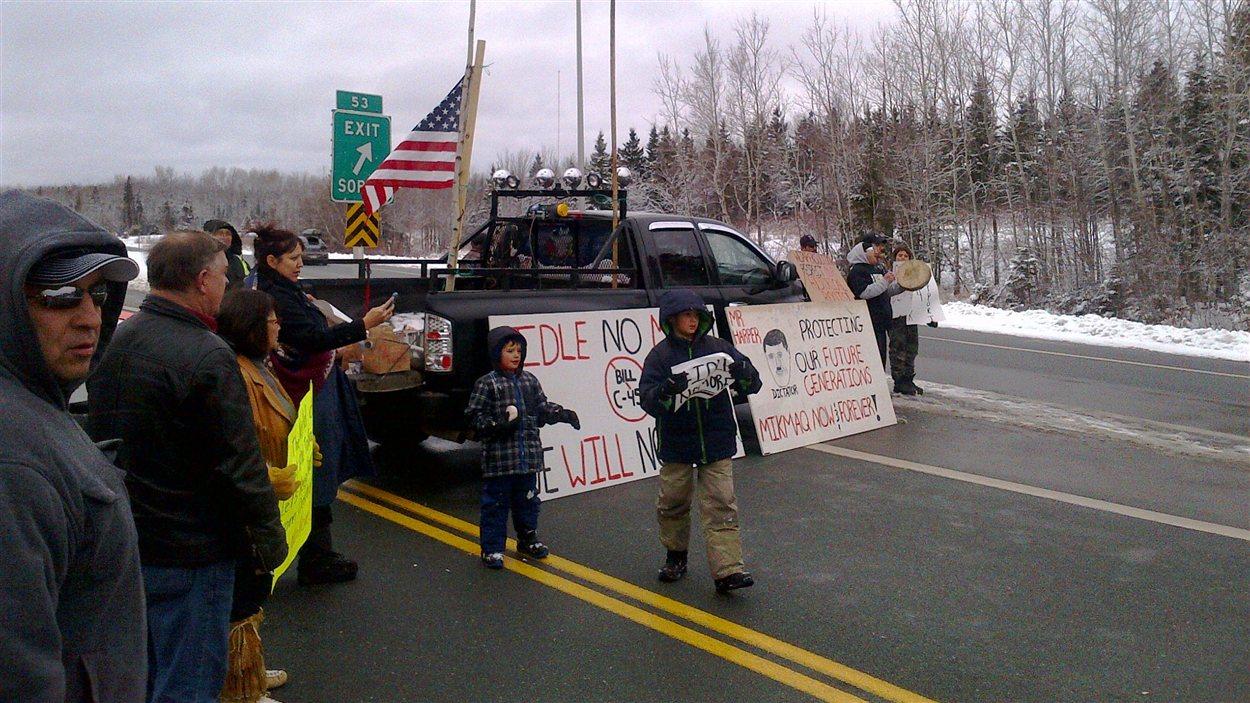 Manifestation à Rexton