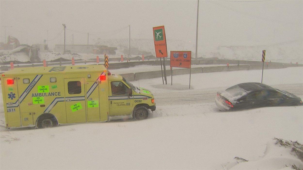 Accident à Montréal