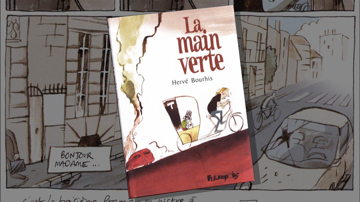 La bande dessinée d'anticipation d'Hervé Bourhis montre un monde bouleversé par une pénurie de pétrole et forcé de revenir à la culture potagère en famille.