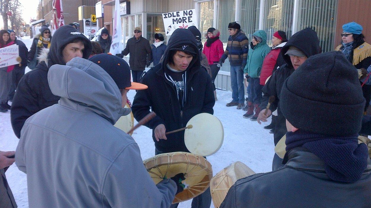 Manifestation autochone à Roberval