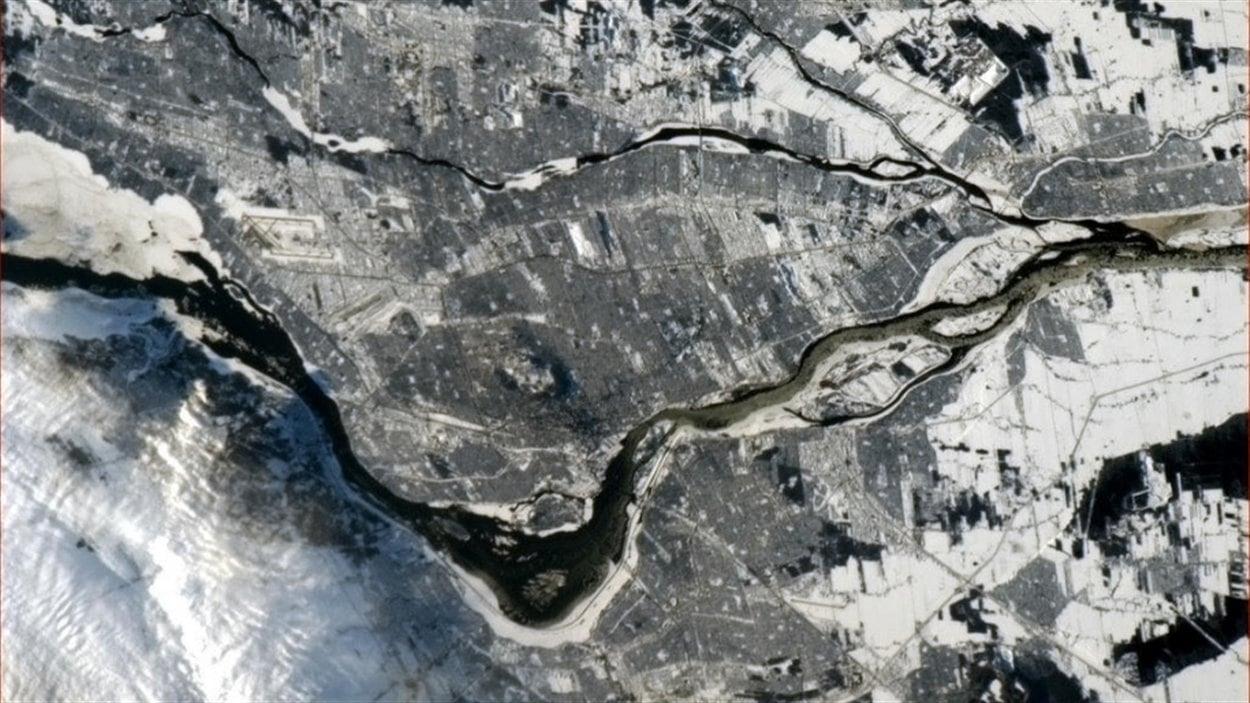 La ville de Montréal, en janvier 2013