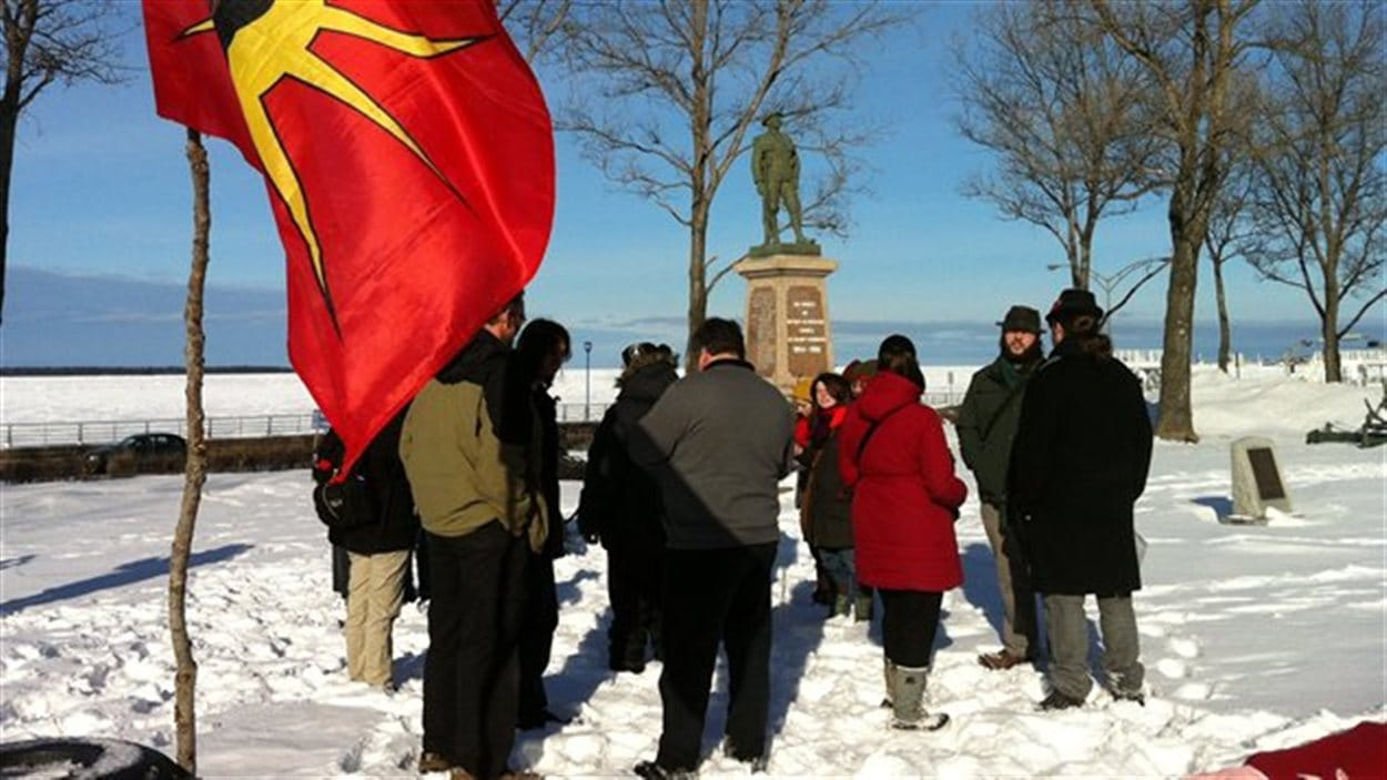 Manifestation en appui au mouvement Idle No More à Rimouski