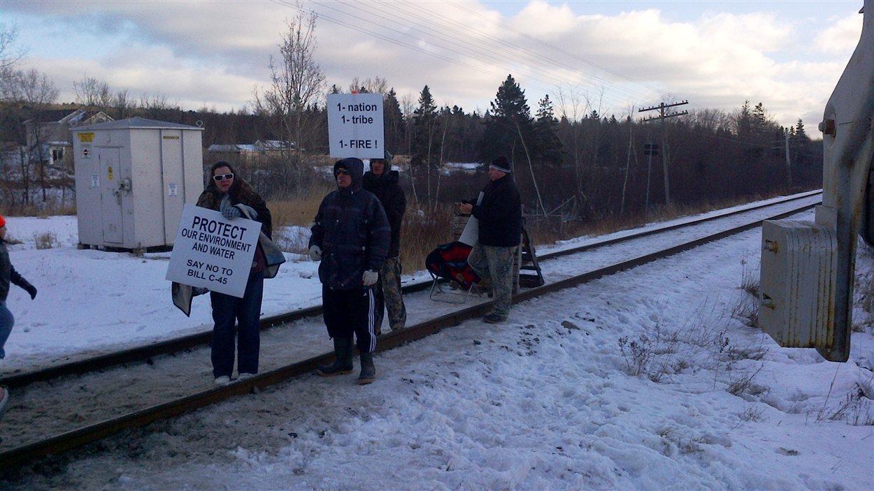 Manifestation Idle No More, Millbrook, N.-É.