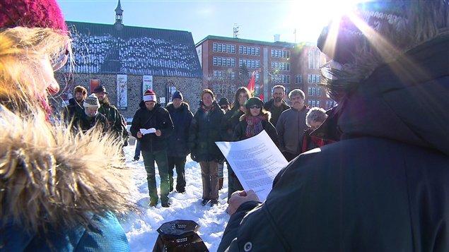 Manifestation en appui au mouvement Idle No More à Rimouski