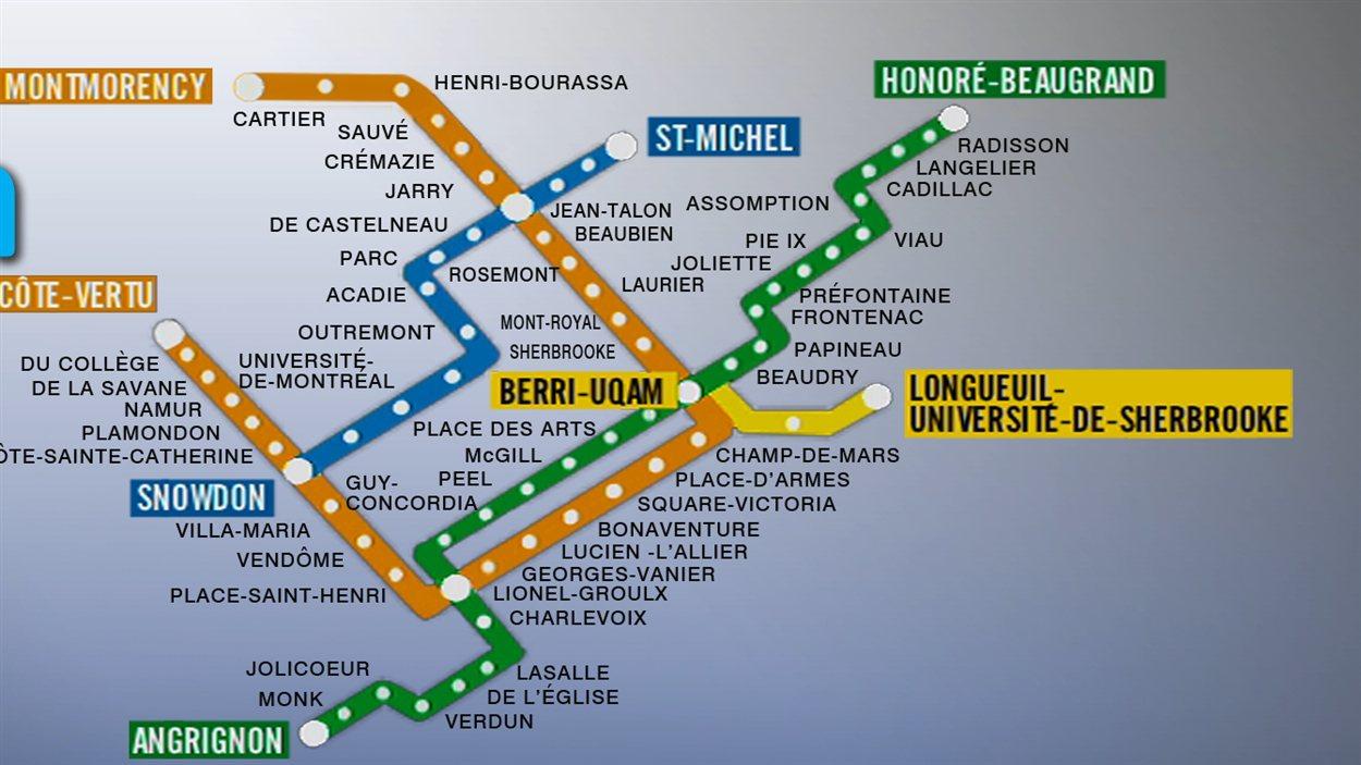 Carte du métro