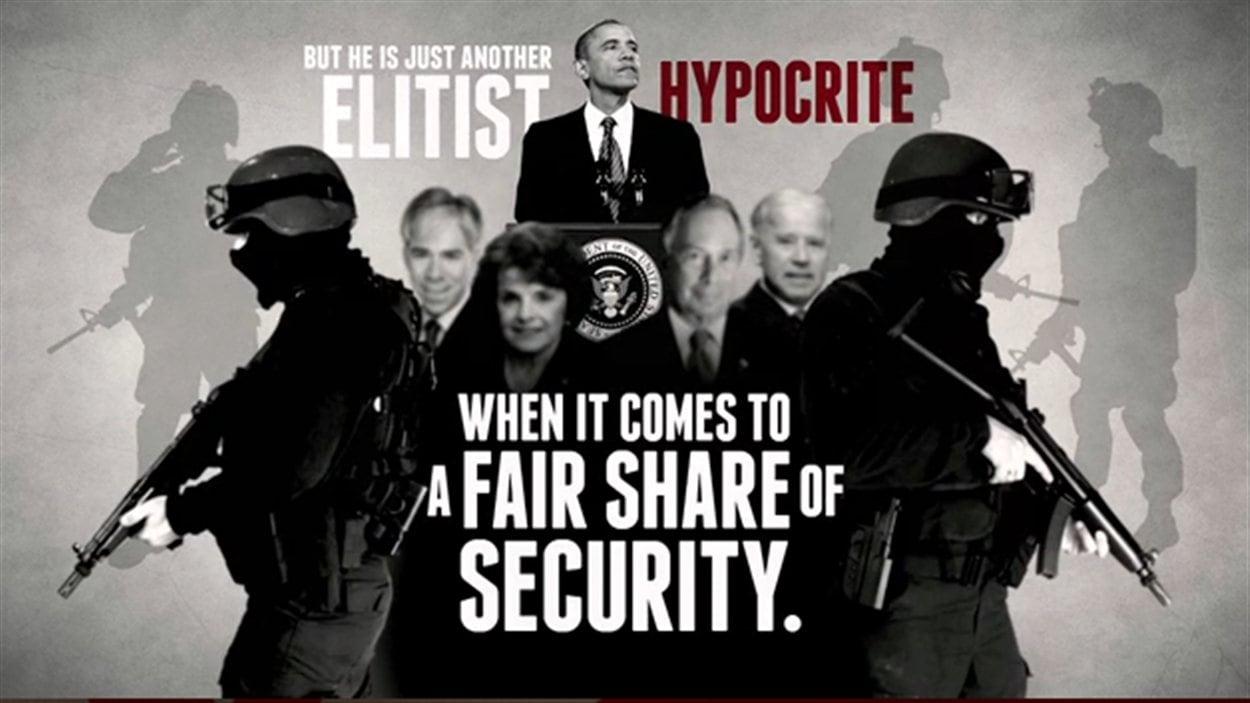 La NRA accuse Obama d'être un élitiste hypocrite.