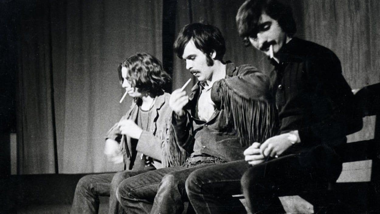 André Paiement, Gaston Tremblay et Denis Courville dans la pièce «Moé j'viens du Nord stie»