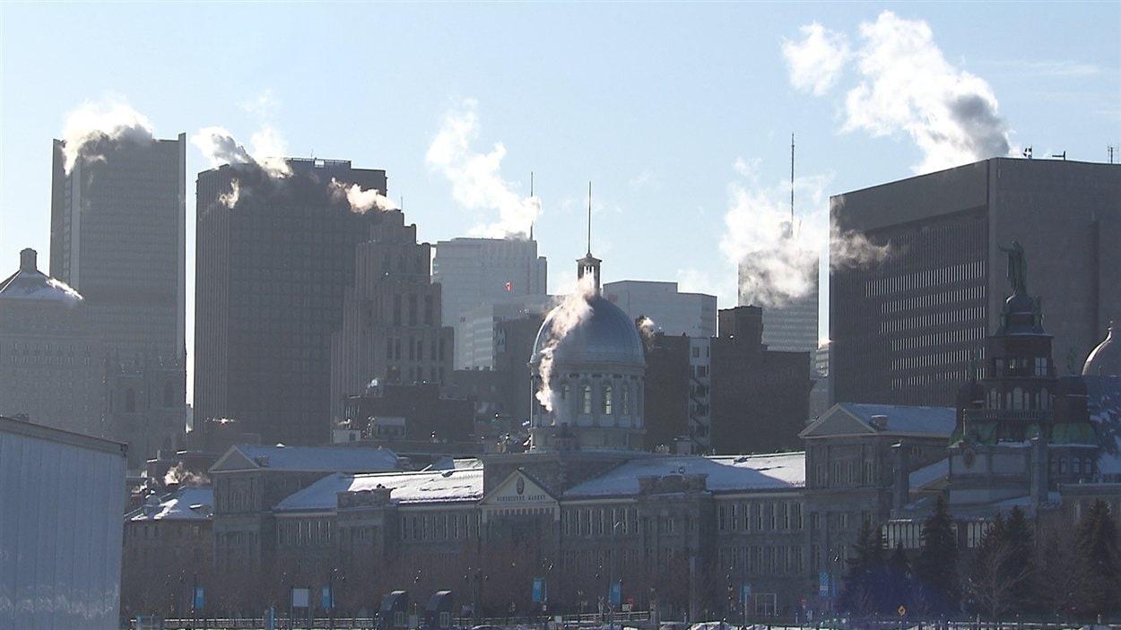 Le centre-ville de Montréal par près de -30° Celsius
