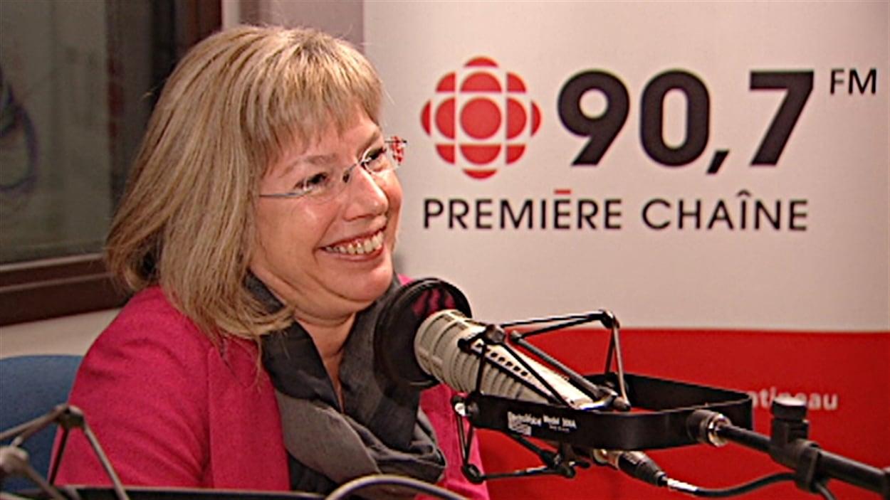 La docteure Anne-Marie Bureau, porte-parole du Centre de pédiatrie sociale de Gatineau, a tenu sa quatrième guignolée.