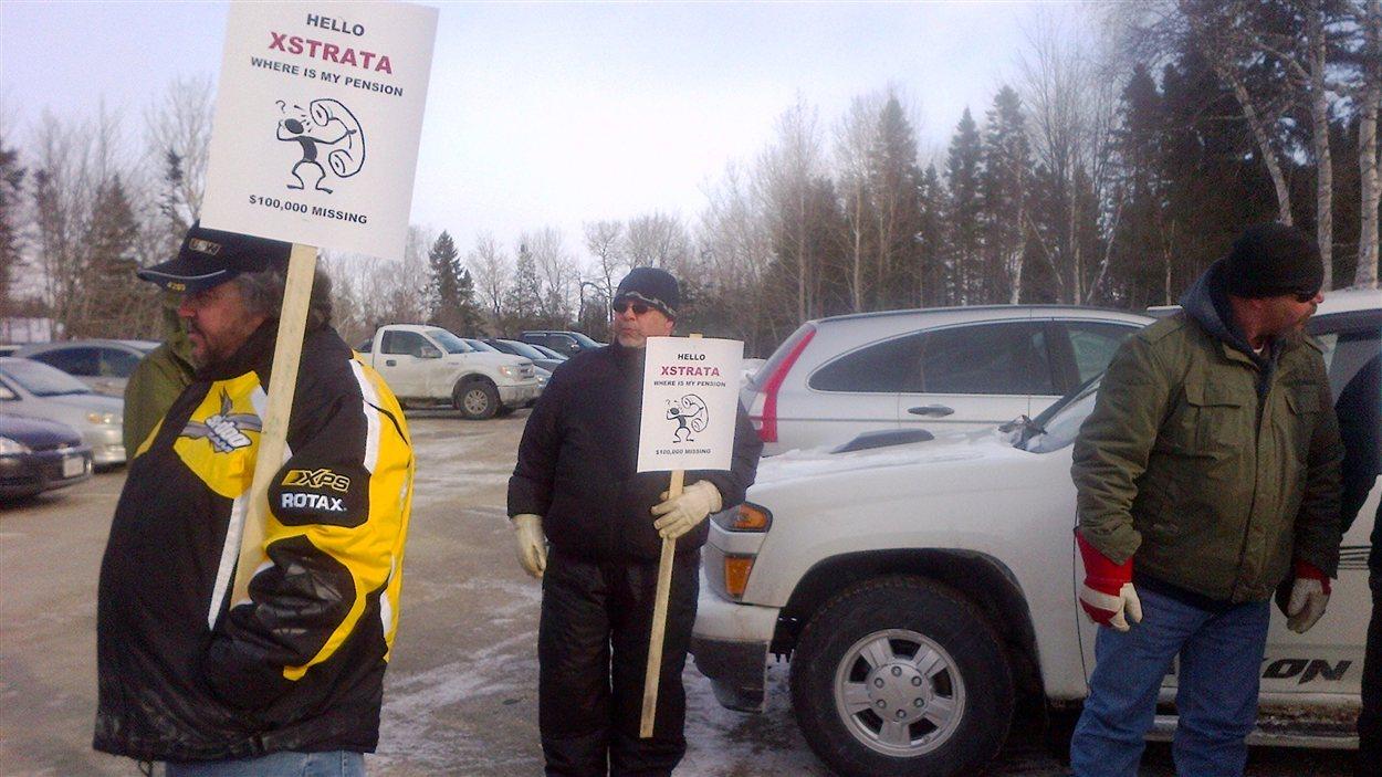 Manifestation de travailleurs de la minière Xstrata