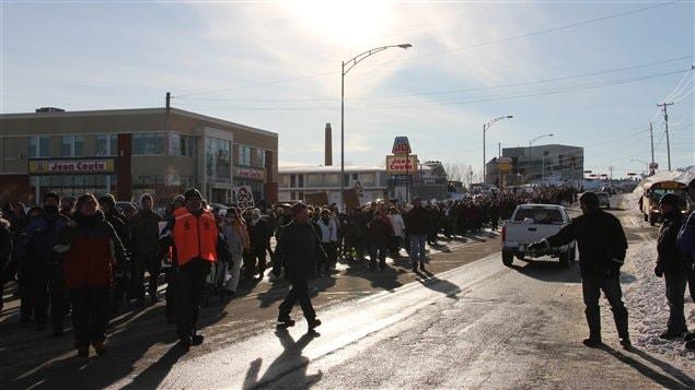 Une autre manifestation en Gaspésie