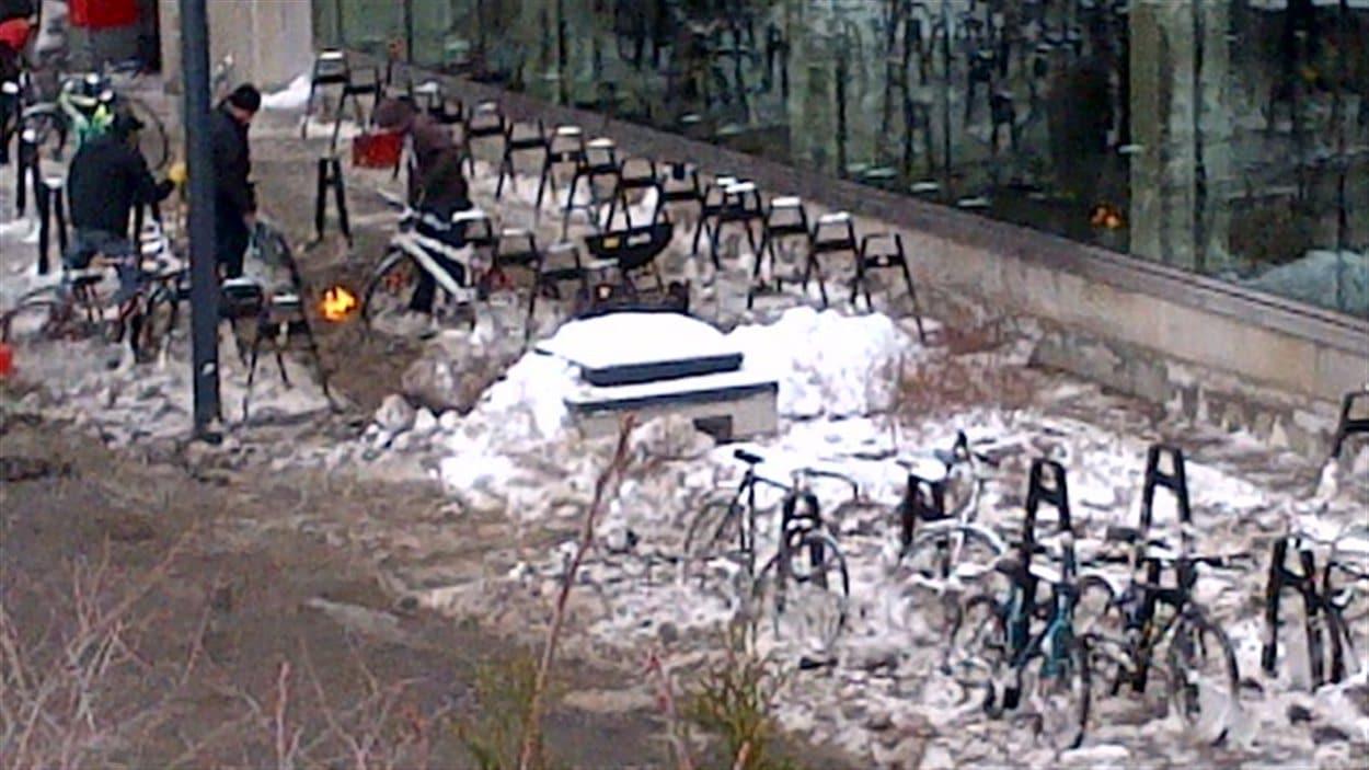 Le secteur a été cerné par l'eau pendant l'inondation.