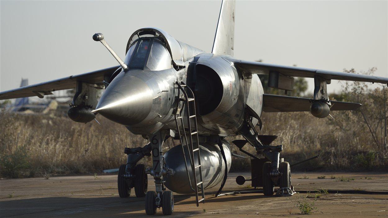 Un chasseur Mirage de l'aviation française déployé au Mali.