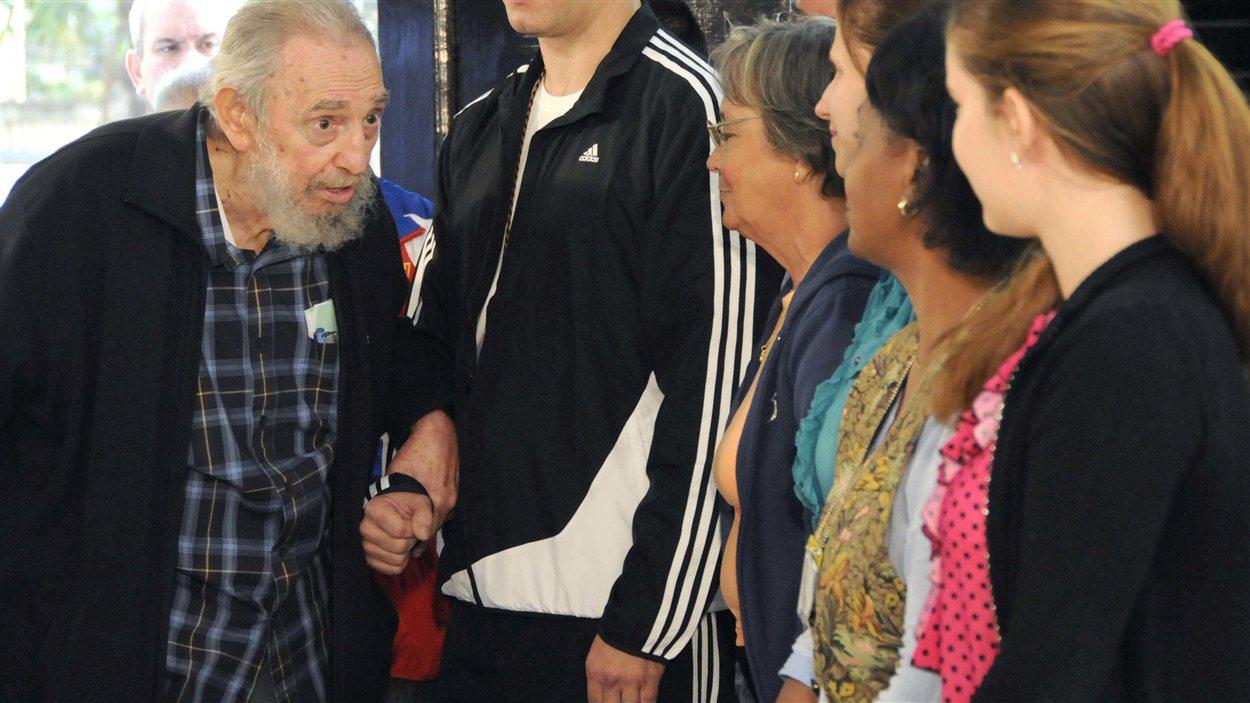 (3 février 2013) Fidel Castro, 86 ans, est allé voter aux élections législatives cubaines.