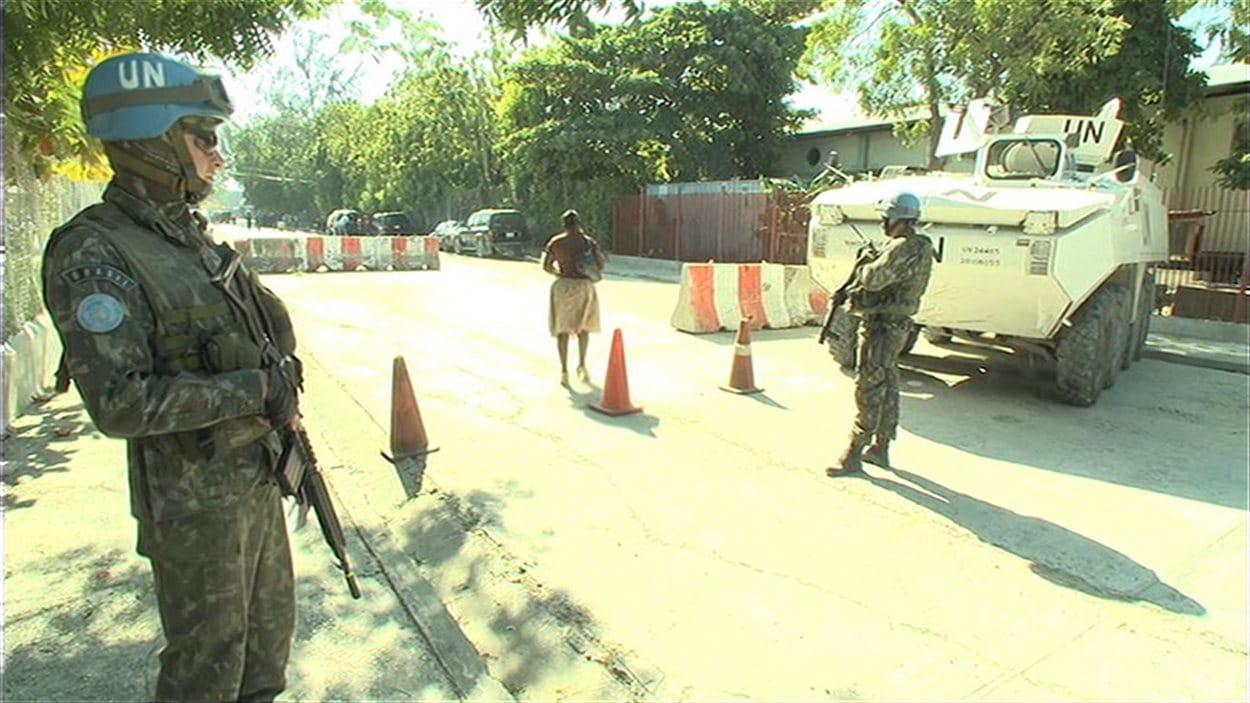 Des agents de la MINUSTAH à Port-au-Prince (archives)